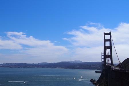 ビスタポイントから眺めるゴールデンゲートブリッジ